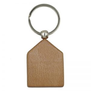 Wooden Keychain, House Shape