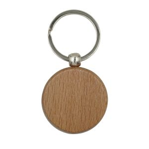 Wooden Keychain, Circle