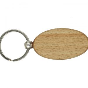 Wooden Keychain, Oval