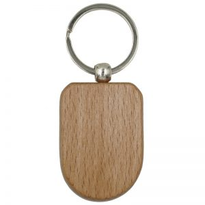 Wooden Keychain, Rounded Bottom