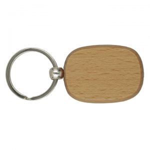 Wooden Keychain, Rounded Edge