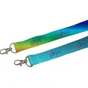 Polyester Lanyard, Multi-color logo