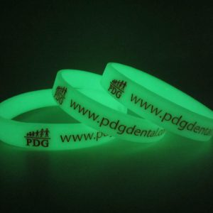 Silicone Wristband, Glow in the Dark